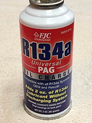 FJC 9145 PAG Oil Charge - 3 oz., R134a, Universal PAG Oil Charge R-134, 134A