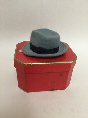 1940s Wormser Salesman Sample Miniature Fedora Felt Hat & Box
