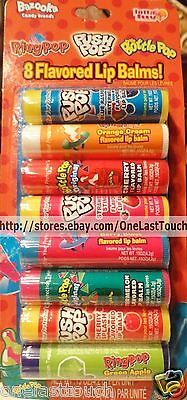 LOTTA LUV* Lip Balms PUSH POP+BABY BOTTLE POP+RING POP 8pc Set PARTY PACK 3/9