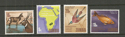Album Treasures Zambia Scott # 57-60  African Tourism  Mint Hinged