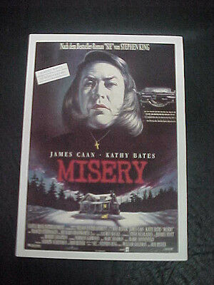 MISERY, film card (James Caan, Kathy Bates) - from Stephen King story