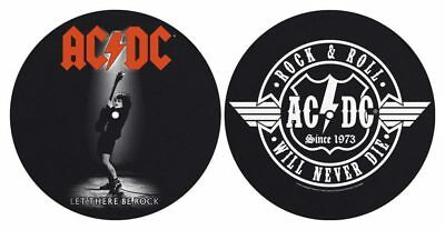 AC/DC - ACDC Turntable Slipmat Pair (Let There Be Rock/Rock And Roll)