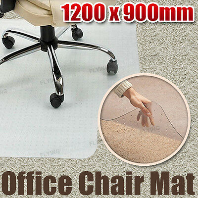 PVC Office Chair Mat for Carpets Vinyl Plastic 1200 x 900mm Rectangular with Lip