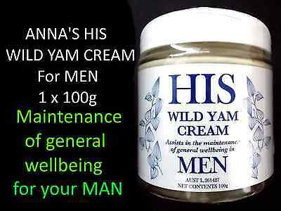 1 x 100g ANNA'S HIS WILD YAM CREAM for MEN ( ANNAS General Well Being )