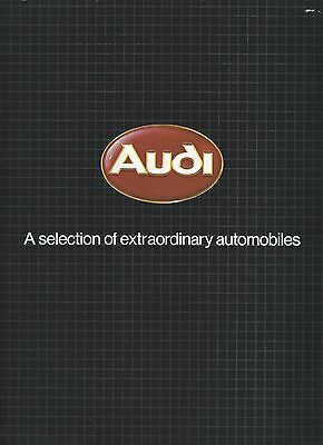 Auto Brochure - Audi - Product Line Overview - 1982 (A1040)