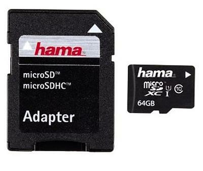 Hama 64GB MicroSDXC Memory Card - 64 GB, Micro Secure Digital Extended Capacity