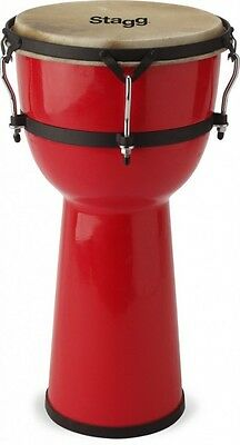 "Stagg DPY-8-RD Fibreglass 8"" Red Djembe EX DISPLAY"