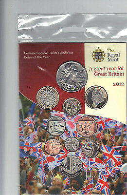 2012 Commemorative Royal Mint Coins Of The Year Set Of 10 Coins