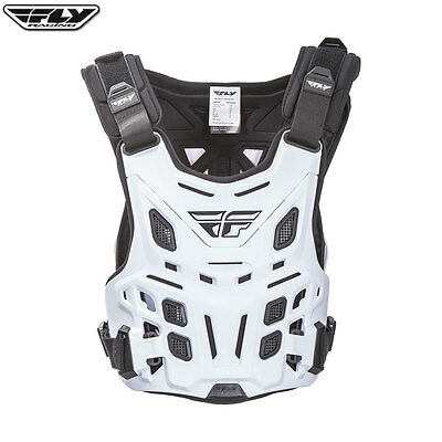 New Adult Fly Revel MX Roost Chest Protector White Body Armour Motocross