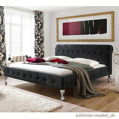 barock polsterbett kunstlederbett designerbett bett modern 160x200 cm wei eur 429 00. Black Bedroom Furniture Sets. Home Design Ideas