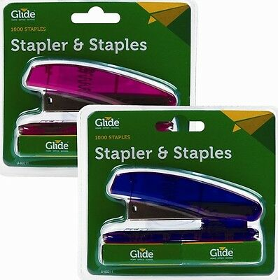 Assorted High Quality Stapler With 1000 x Staples Set Office Supplies Stationery