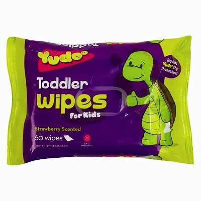 60 x Toddler Toilet Wipes Scented Baby Childrens Toiletries Potty Training Paper