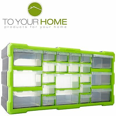 Dihl 22 Multi Drawer Parts Storage Cabinet Unit Organiser Home Garage Tool Box