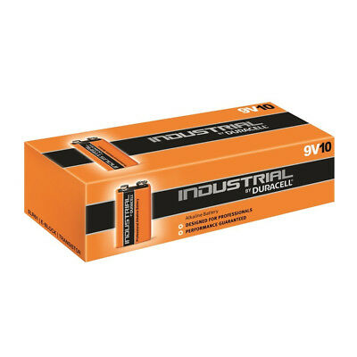 10 x 9V Duracell Industrial MN1604 E-Block Alkaline Batteries for Electronics