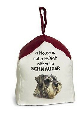 Schnauzer Door Stopper 5 X 6 In. 2 lbs. – A House is Not a Home