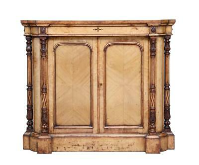 Unusual Early Victorian Birds Eye Maple Cabinet