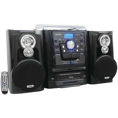 JENSEN JMC-1250 Bluetooth(R) 3-Speed Stereo Turntable Music System