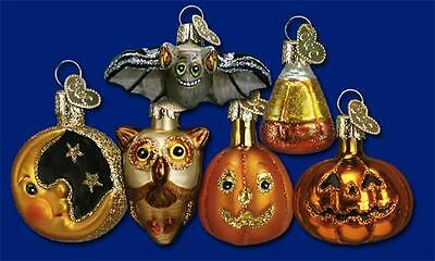 12 Piece Box Of Assorted Miniature Halloween Old World Christmas Ornaments 26027