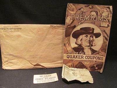 Quaker Oats Premiums 1937 Coupons Catalogue #10 with Mailing Envelope & Coupon