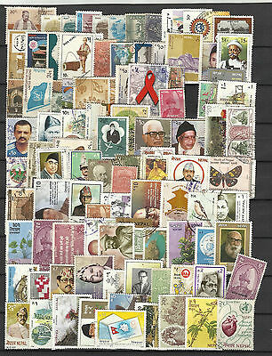 NEPAL STAMP COLLECTION  PACKET of 100 DIFFERENT Stamps