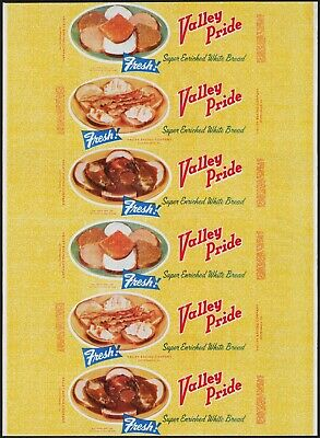 Vintage bread wrapper VALLEY PRIDE sandwiches pictured Shippensburg PA unused