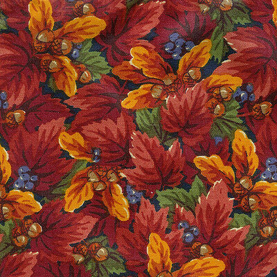 Longaberger Basket Small Garter in Fall Foliage Fabric