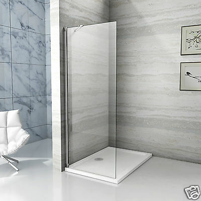 Aica Wet Room Shower Enclosure Screen Panel Tray Walk In NANO Glass 650 710 850