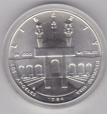 Usa 1984S Olympics Proof Silver Dollar In Mint Condition With A Capsule