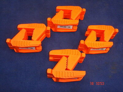 4 x Pairs of Spear & Jackson Bricklayer's Line Block Rubber Shaped Brick Orange
