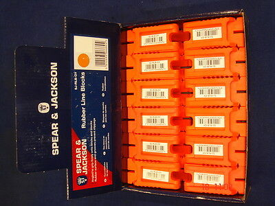 12 x Pairs of Spear & Jackson Bricklayer's Line Block Rubber Shaped Brick Orange