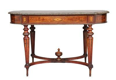 19Th Century French Inlaid Walnut Center Table