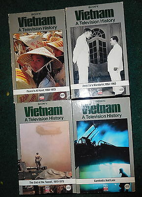 Vintage VHS - Sony VIETNAM  War vhs videos - LOT of 4,a television history