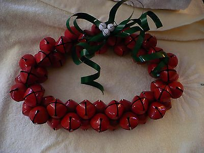 We- Vintage Christmas Red Bells Wreath  #40186