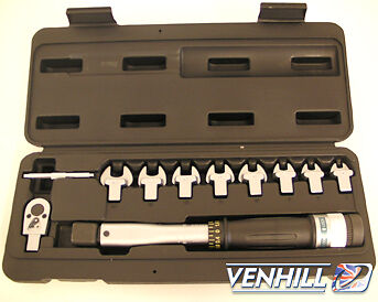 "Venhill Torque Spanner Set With 1/4"" Socket"