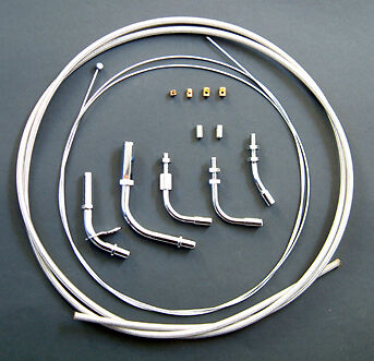 Venhill Braided Single Throttle Cable Kit