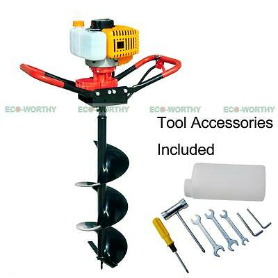 "ECO 2.2 HP Gas Powered Post Hole Digger W/ 4""/ 8"" Drill Bit 49CC Power Engine"
