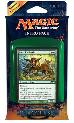 Intro Pack Forza Bestiale MTG MAGIC 2014 M14 Italiane VERDE NERO