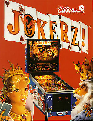 1988 Williams Jokerz! Pinball Flyer