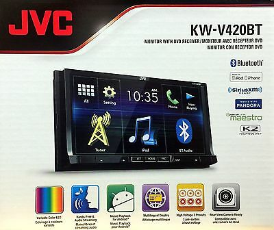 """NEW JVC KW-V420BT 7"""" Touchscreen  Double DIN Bluetooth In-Dash CD Car Stereo"""