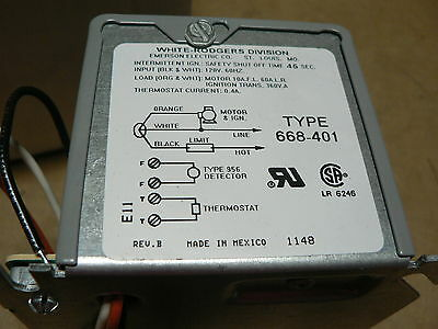 White-Rodgers 668-401, Oil Primary Control NEW TRANE CNT289 HONEYWELL R8184G4009