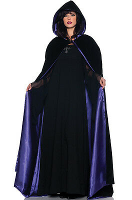"63"" Deluxe Velvet and Satin Cape Adult Costume Accessory (Purple)"