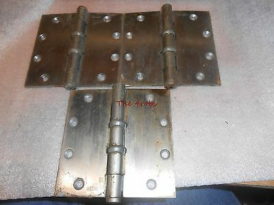 Set of Three 5 X 4.5 Heavy Duty Ball Bearing Hinges Stainless Finish