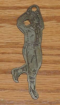 Pat'd 9-19-14 Coca-Cola Baseball Player Bottle Opener Skate Key-Canton City Ohio