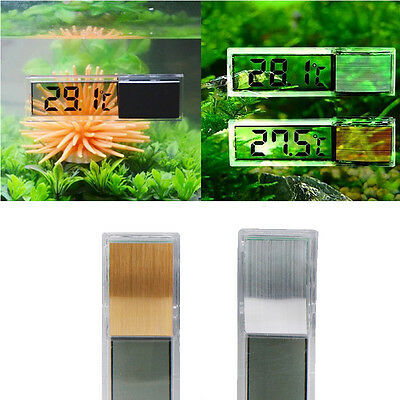 Digital LCD Fish Reptile Aquarium Tank Temp Water Marine Thermometer Temperature