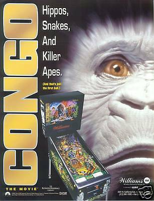 1995 Williams Congo Pinball Flyer