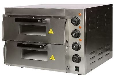 Compact Double Deck Stone Base Pizza Oven NEW