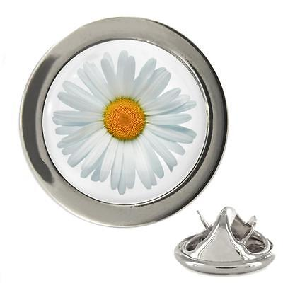Daisy Image Design Rhodium Plated 20mm Lapel Pin