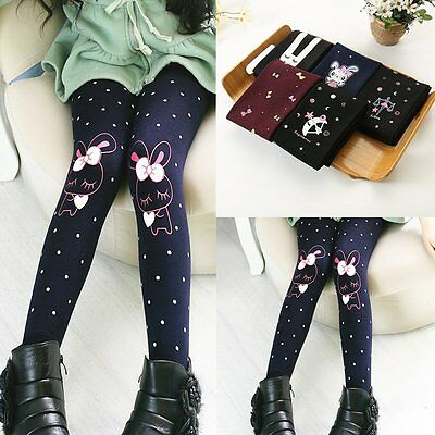 Toddler Kids Baby Girls Cotton Tight Pants Cute Stretch Warm Leggings Trousers