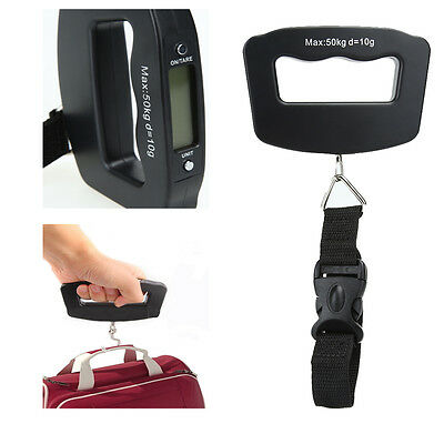 50kg/10g Hand Held LCD Hanging Luggage Weight Electronic Fish Hook Digital Scale