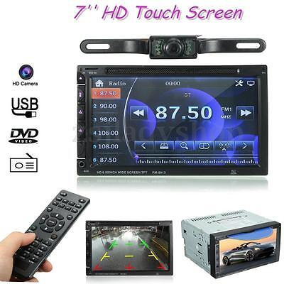 7'' Double Din DVD/USB/SD Head Unit Player Bluetooth Radio AUX HD Touch Screen